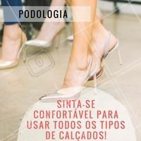 Com os tratamentos de podologia, seus pés estarão sempre cuidados e sem inflamações para usar todos os calçados que desejar. Agende já o seu horário! #Podologia #PésSaudável #Saúde #BelezaDosPés #Ahazou