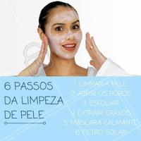 A limpeza de pele é um procedimento que passa por 6 passos essenciais, desde a limpeza inicial até os cuidados com a pele sensível. #limpezadepele #passoapasso #estética