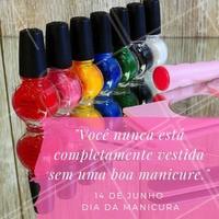 Parabéns à todas as manicures! #DiaDaManicure #Esmalte #Unhas #AmoManicure #Ahazou