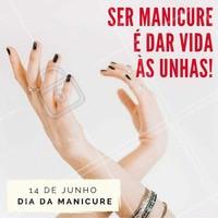 Manicure é uma arte! #DiaDaManicure #Esmalte #Unhas #AmoManicure #Ahazou