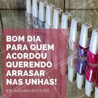 Parabéns, manicures! #DiaDaManicure #Esmalte #Unhas #AmoManicure #Ahazou
