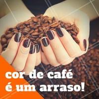 Esmaltes em tons terrosos são ótimos para a temporada de Outono e Inverno. Invista! #Unha #Esmalte #AmoEsmalte #Café