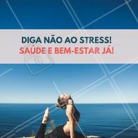 Pratique yoga, pilates, meditação... exercícios de equilíbrio para a mente e o corpo é ideal para a sua saúde! #BemEstar #Saúde
