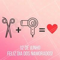 Amor verdadeiro para comemorar este dia! #Beleza #DiaDosNamorados #Cabeleireiros