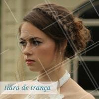 Que tal se inspirar nesse penteado incrível para arrumar as madeixas hoje? #Tiara #Trança #Cabelo #Penteado