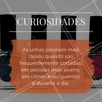 Curiosidade sobre unhas: você sabia?! #Unhas #Esmalteria #Curiosidade