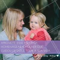 Faça homenagem, dê presentes, abrace e lembre ela o quanto você a ama nesse mês das mães! #Mêsdasmães #Mãe #Ahazou #DiaDasMães #AmoMuito