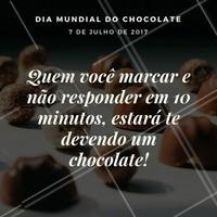 Marque a amiga! Se ela não te responder já sabe, né? Você ganha um chocolate!  #ahazou #beauty #diamundialdocholate
