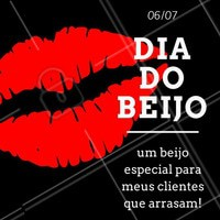 Um Feliz dia do Beijo para todos os clientes queridos! #DiaDoBeijo #Motivacional #Beleza