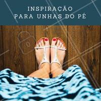 Vermelho nos pés, quem topa? Agende o seu horário! #Unhas #PedicurE #Nails #Inspiração