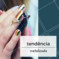 Quem também AMA essa tendência? #Unha #Tendência #Nails #Inspiração