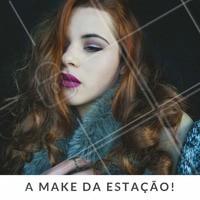 Inspire-se nesta #make que vai bem com os dias mais frios! #Makeup #Maquiagem #Inspiração