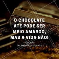Que a vida seja sempre doce. Feliz dia do Chocolate! #chocolate #chocolovers