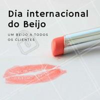 Um super beijo especial a todos os clientes do {{nome do seu negócio}} ! #FelizDiadoBeijo