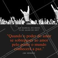 Hoje é dia de rock, bebê! Aproveite e coloque aquele som que vale a pena ouvir!  #ahazou #diamundialdorock