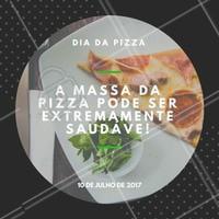A massa é muito rica em antioxidantes, e se usar as técnicas de cozimento corretas, pode realmente aumentar os antioxidantes na mesma!  Tá vendo? Pizza também é saúde!  #ahazou #diadapizza