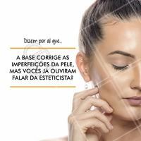 Nada como uma esteticista para corrigir realmente as imperfeições na nossa pele!  Agende seu horário e fique mais bonita!  #estética #beauty #ahazou #base #esteticista #pelesaudavel