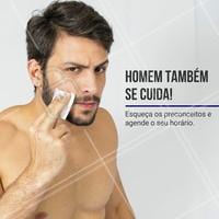 Homens também devem buscar os cuidados estéticos! Invistam em vocês mesmo! Bora marcar um horário!  #esteticamasculina #ahazou #beauty #homens #tratamentomasculino #beleza #autoestima #vaidademasculina