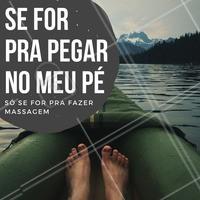 Quem aí não ama massagem nos pés? Pegar no pé só assim 😉 #massoterapia #ahazou #massagem #massagemnospés