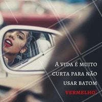 Use muito batom vermelho! E arrase no tom!   #ahazou #maquiagem