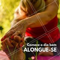 Comece o dia com alguns alongamentos básicos pois são eles que preparam a musculatura para exercer quaisquer movimentos, sem tensões desnecessárias. #fisioterapia #ahazou #exercício #alongamento
