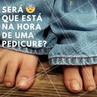 Seus pés irão agradecer por um dia de beleza. Agende já o seu horário! #Unhas #Nails #Pedicure