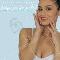 Para a pele perfeita dos sonhos, a limpeza de pele é o pedido ideal! Agende agora seu horário. #pele #inspiração #limpezadepele #estéticafacial
