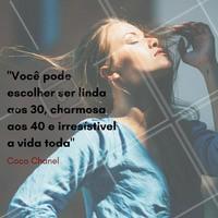 Coco Chanel tinha razão!  Escolha ser mais que irresistível a vida toda, seja maravilhosa!  #ahazou #maquiagem #makeup