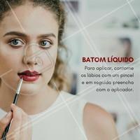 Ainda assim não sabe como passar o batom líquido? Agende o seu horário que eu te ajudo!  #ahazou #maquiagem #makeup