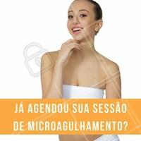 Você está a um passo da pele perfeita, já imaginou? Agende seu horário com a gente! #microagulhamento #peleperfeita #estéticafacial
