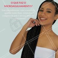Quer saber mais sobre microagulhamento? Marque seu horário com um de nossos profissionais. #microagulhamento #estéticafacial #colágeno