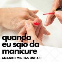 É a melhor sensação do mundo, não é mesmo? #Manicure #Unhas #Nails