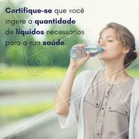 Não deixe de tomar água, e mais, tome a quantidade recomendada!  #Agua #Cuidados #BemEstar #Care #Dica #Tip #Saúde #ExercíciosFísicos