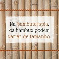 Os de espessura mais fina são usados geralmente para massagens modeladoras, o que requer maior pressão por parte do profissional, os bambus mais grossos são utilizados para massagens relaxantes.   #ahazou #bambuterapia