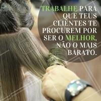 Não desvalorize o seu trabalho! #motivacional #beleza #ahazou #autoestima #instabeauty #beauty #salaodebeleza #cabelo #cabeleireiro