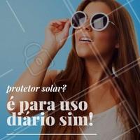 Faça sol ou faça chuva, use o protetor solar todos os dias, faça disso um hábito. Você já está com o rosto protegido hoje? #ProtetorSolar #Pele #EstéticaFacial #PeleLinda #CuidadosDaPele