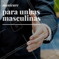 Aqui, eles também podem agendar o melhor horário para conquistar unhas limpas e saudáveis! Vem! #Unha #Manicure #Esmalte