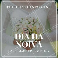 Venha se embelezar no melhor estilo neste grande dia! #DiaDaNoiva #Noivas #Casamento #Ahazou #Hair #Makeup #Estética