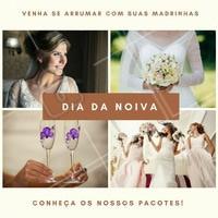 Reserve o seu dia para começar comemorando com grande estilo e, claro, muita beleza! #DiaDaNoiva #Noivas #Casamento #Ahazou #Beleza