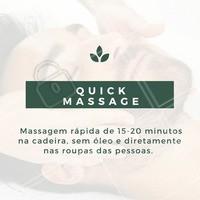 Agende já a sua sessão e leve uma vida mais relaxada! #QuickMassage #Massagem #BenefíciosMassagem #AmoMassagem #Ahazou