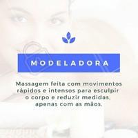 Agende já a sua sessão e reduza medidas de maneira mais relaxa! #Modeladora #MassagemModeladora #ReduzirMedidas #Massagem #BenefíciosMassagem #AmoMassagem #Ahazou