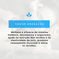 Agende já a sua sessão de #PowerDrenagem! #Massagem #Drenagem #Estética #Tratamento