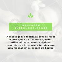 Agende já a sua sessão de Massagem Super Modeladora! #MassagemModeladora #Massagem #Estética #Tratamento
