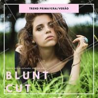 O Blunt Cut é a tendência que vem com tudo agora na primavera e no verão, um corte reto, chique e minimalista. Gostou? #ahazou #cabelo #tendência