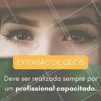 Procure sempre um profissional com certificado para a realização do serviço!  #ahazou #beauty #cílios