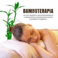 Agende o seu horário e sinta pessoalmente os benefícios da bambuterapia! #ahazou #bambuterapia