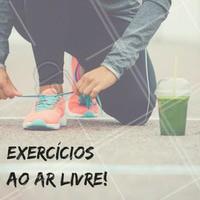 Exercícios na rua são mais prazerosos que dentro das academias ou em casa. Comece correndo ou andando de bike aos finais de semana, depois escolha mais dois dias da semana para fazer outas atividades. #ahazou #emagrecer #dieta #vidasaudável #saude #bemestar