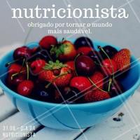 Obrigada por serem profissionais preocupados com a saúde e incentivarem a alimentação saudável na vida das pessoas! #diadonutricionista #nutrição #saúde #bemestar