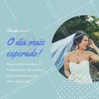 Nós sabemos o quão importante essa data é para você, por isso, no nosso espaço o tratamento para você, noiva, é extremamente especial!  Agende o seu horário!  #diadanoiva #noiva #ahazou #beauty
