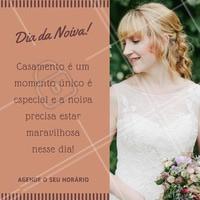 Agende o seu horário conosco nesta data tão especial!   #diadanoiva #noiva #ahazou #beauty